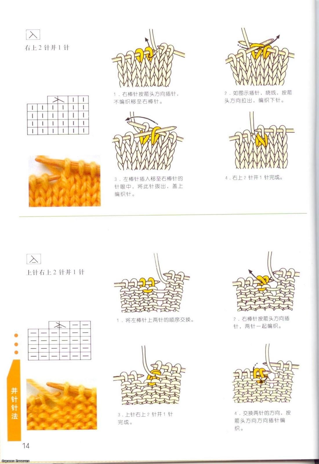 Вязание спицами обозначение схем в японских журналах