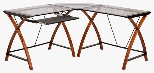 Flash Furniture Glass Corner Desk