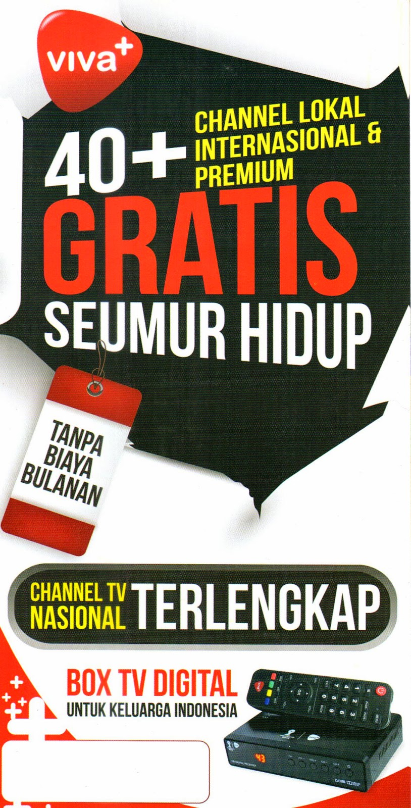 brosur parabola viva + plus channel tv nasional terlengkap
