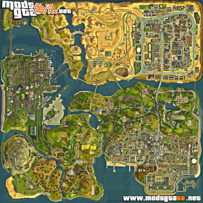 Mapa em HD 3D