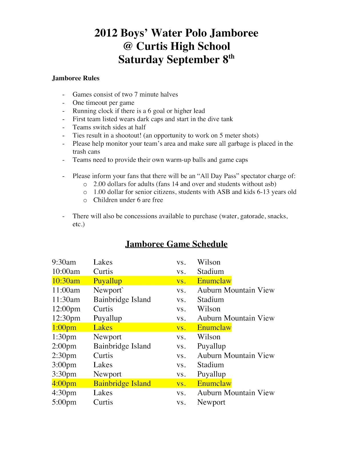 how to make a game schedule