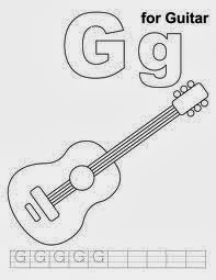 printable alphabet coloring pages guitar