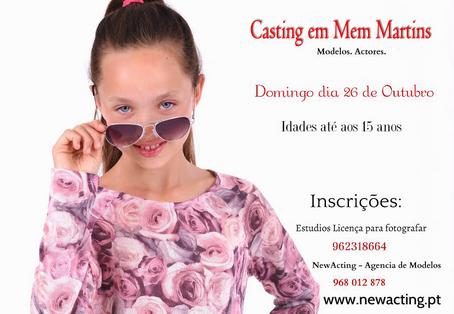 Casting em Mem Martins para crianças até 15 anos (modelos / atores)
