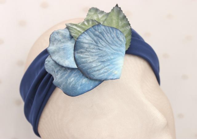 Colección Bailando Swing - Banda elastica ancha flor azul