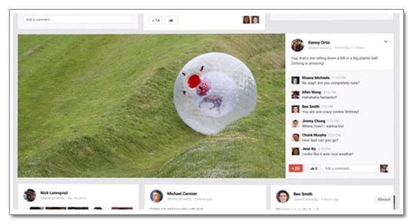 Des visuels extra-larges dans Google+