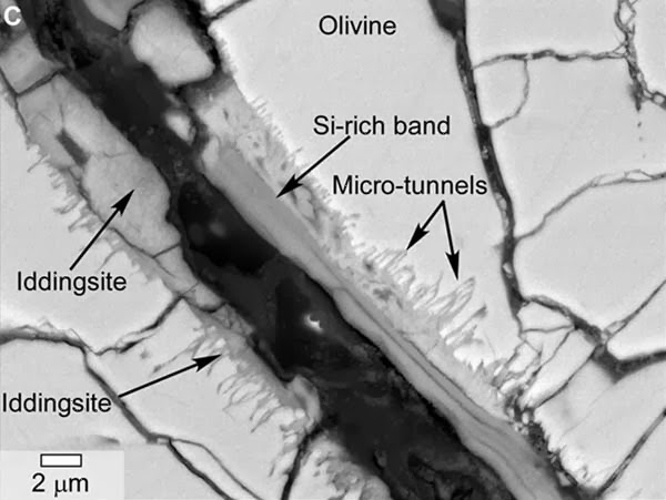 Aliran air meteorit Mars, meteor mars