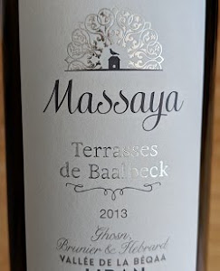 Notre vin de la semaine est un très bon rouge du Liban !