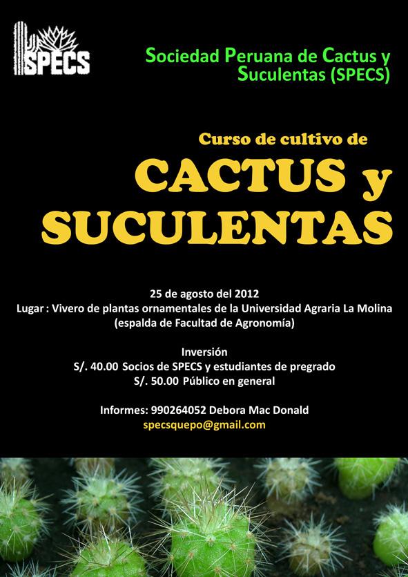 Sociedad Peruana De Cactus Y Suculentas Curso De Cultivo