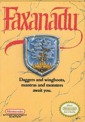 Box Art for the North American version of Faxanadu