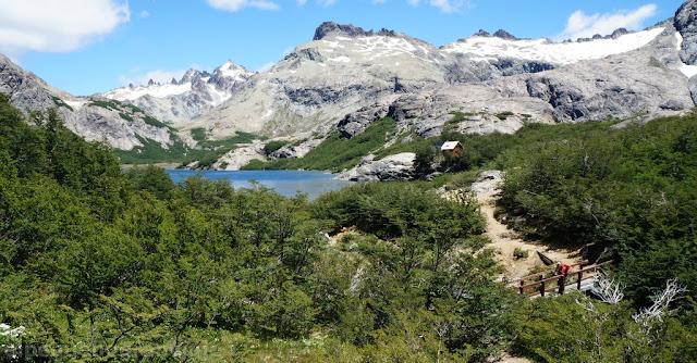 paisaje, refugio, laguna, montaña, bariloche