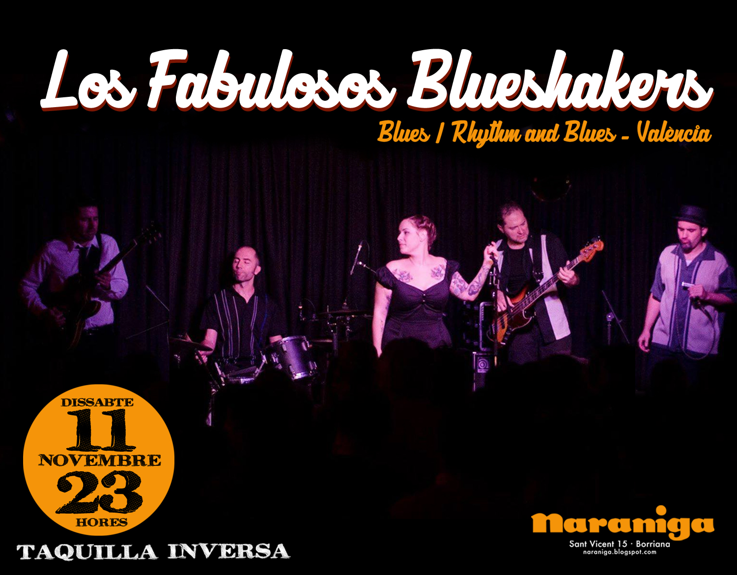 LOS FABULOSOS BLUE SHAKERS- 11 NOV 23 H.