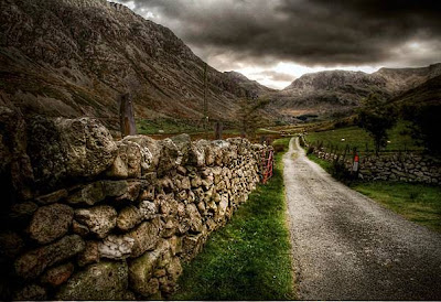 Mountain road, Snowdonia, Wales