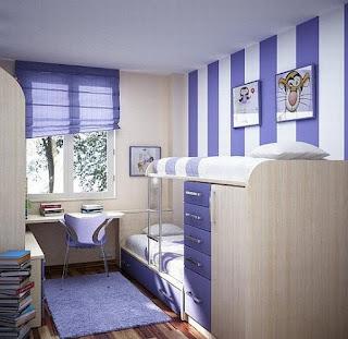 Blue and white teenage bedroom ideas