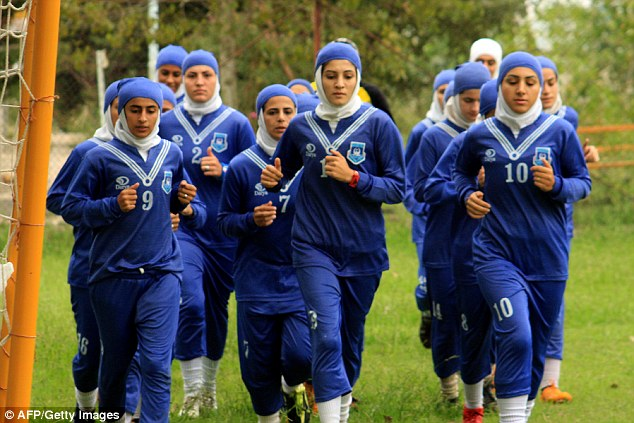Controversy as Iran women football team field 8 Men waiting for s3x change!