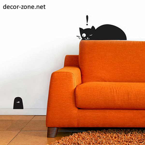 15 funny vinyl wall stickers for the cat lovers