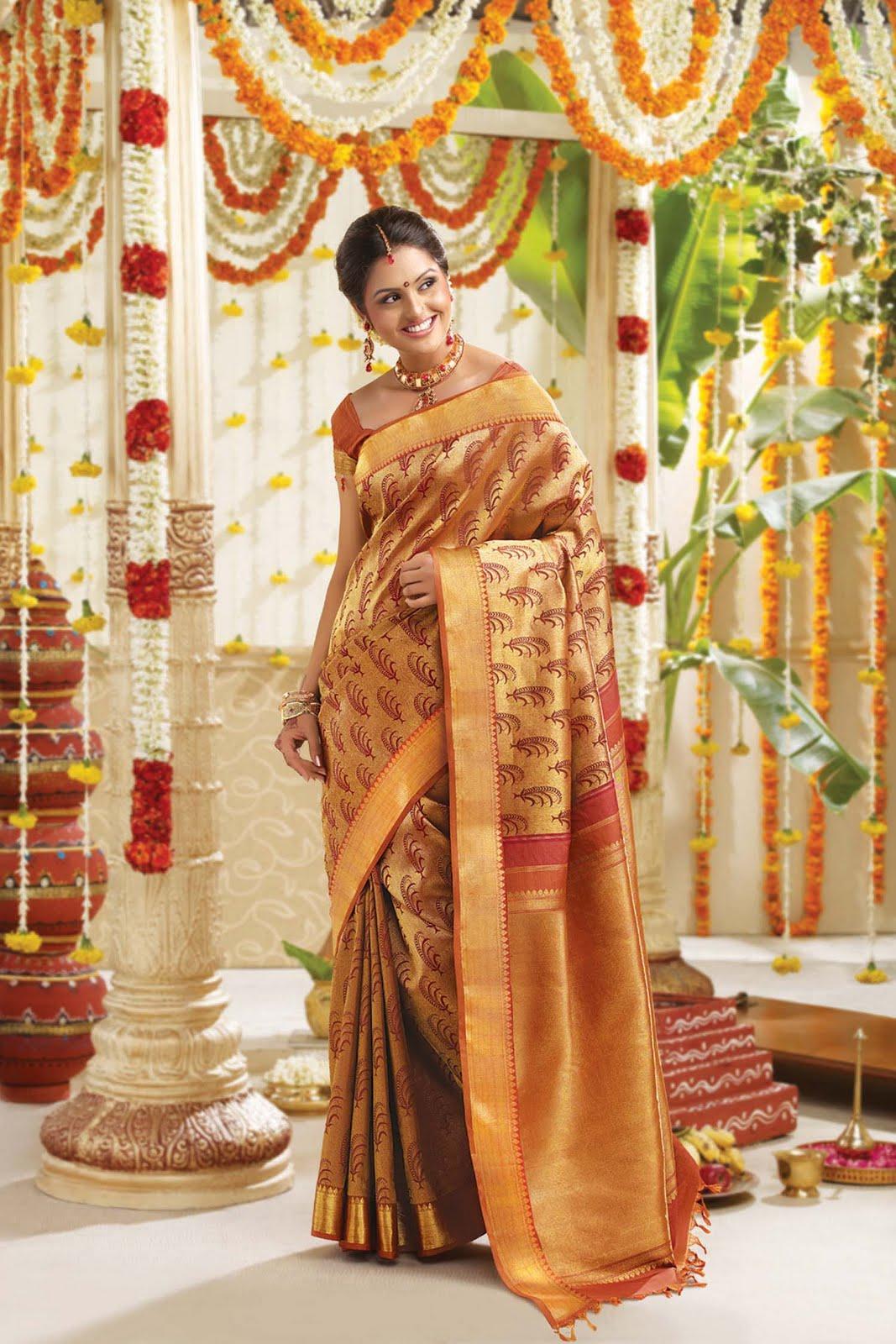Wedding sarees kanchipuram silk sarees kanch pattu saree new indian - Marriage Sarees Rmkv Wedding Sarees