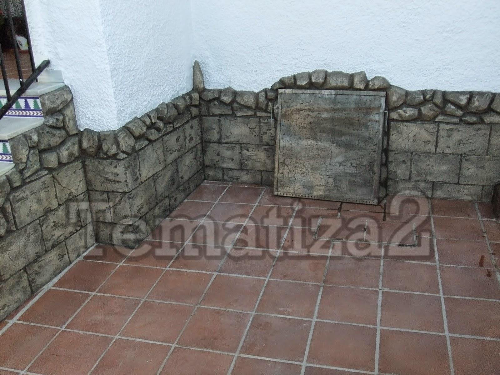great lateral de escaleras y zocalo decorados en piedra sillar with zocalos de piedra - Zocalos De Piedra