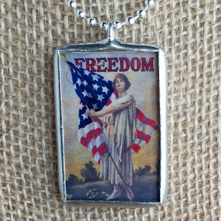 Soldered glass pendant from My Sweet September.