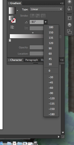 how to change gradient to up and down