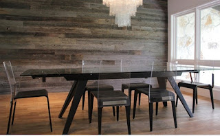 Reclaimed wood wall for Venice FL real estate
