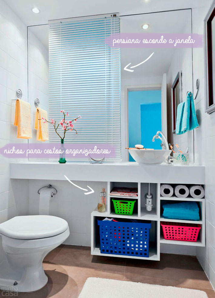 Dicas para banheiros pequenos  Comprando Meu Apê  Comprando Meu Apê -> Banheiro Pequeno Dicas