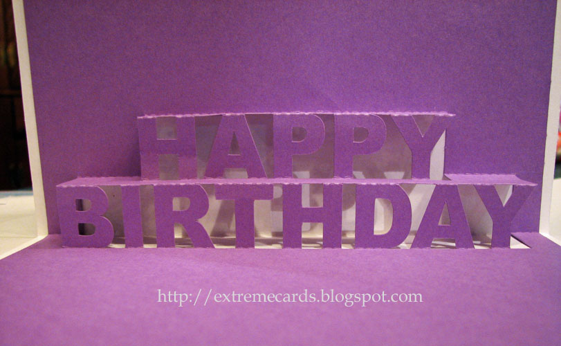 Extreme Cards and Papercrafting Happy Birthday Pop Up Card – Pop Up Cards for Birthday