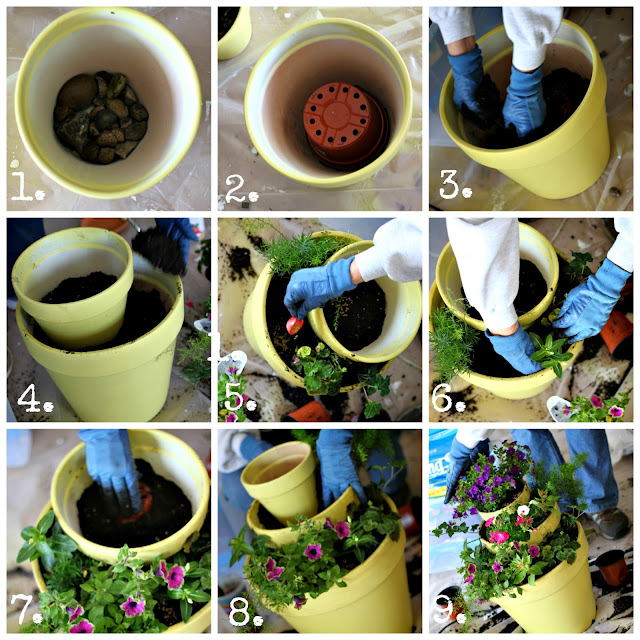 Как сделать горшок с цветами 454