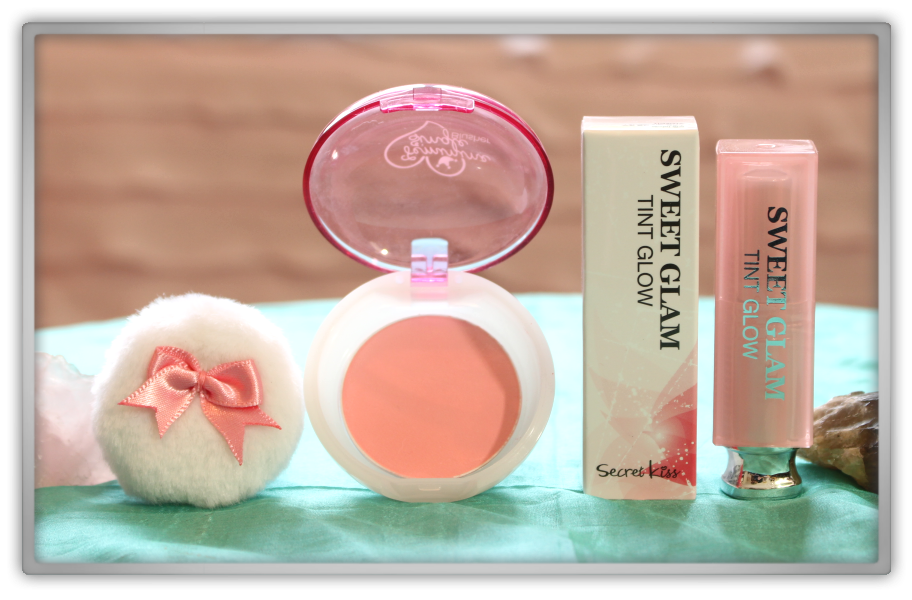 겟잇뷰티박스 by 미미박스 memebox beautybox # special #17 K-Style unboxing review box shara single blusher cr01 coral secret key sweet glam tint glow 01 baby pink
