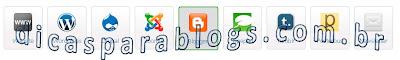 botões de compartilhamento das redes sociais para blogs