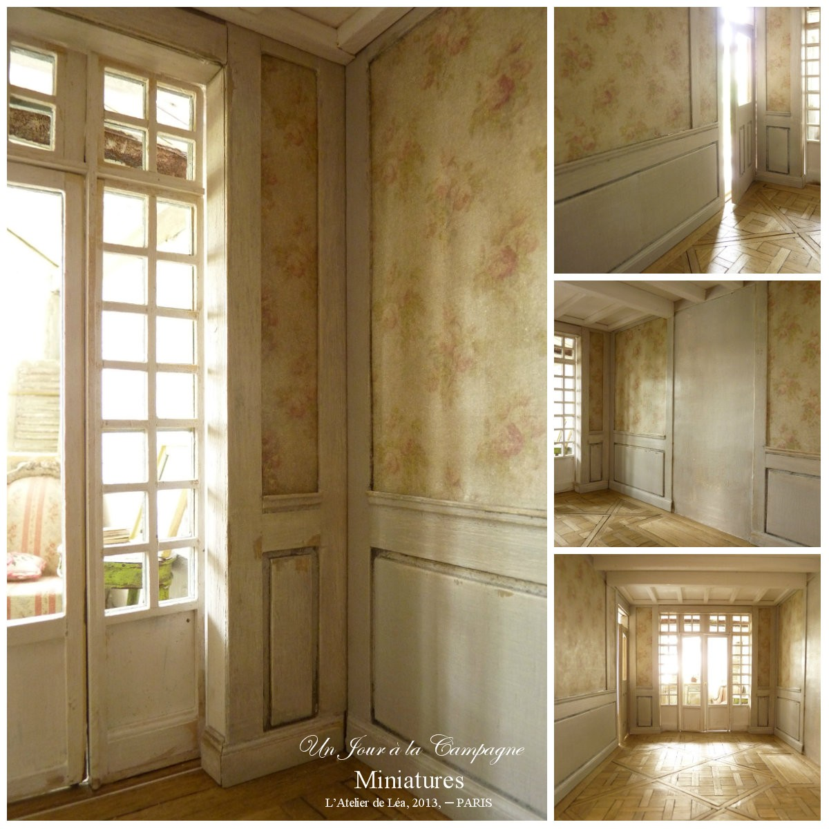 le salon romantique parquet versailles boiseries. Black Bedroom Furniture Sets. Home Design Ideas