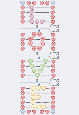 Colorful Love Emoji Art