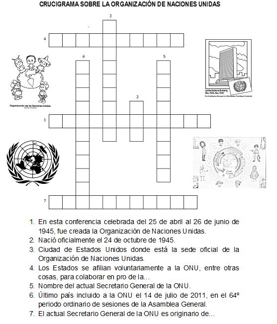Crucigramas para niños de quinto de Primaria para imprimir - Imagui