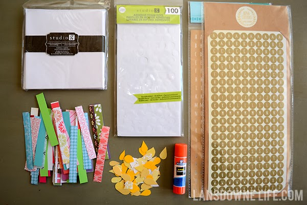 Supplies for making handmade birthday cards