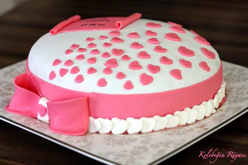 şeker hamurlu yıldönümü pastası
