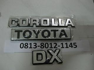 Lapak Emblem Corolla DX Import