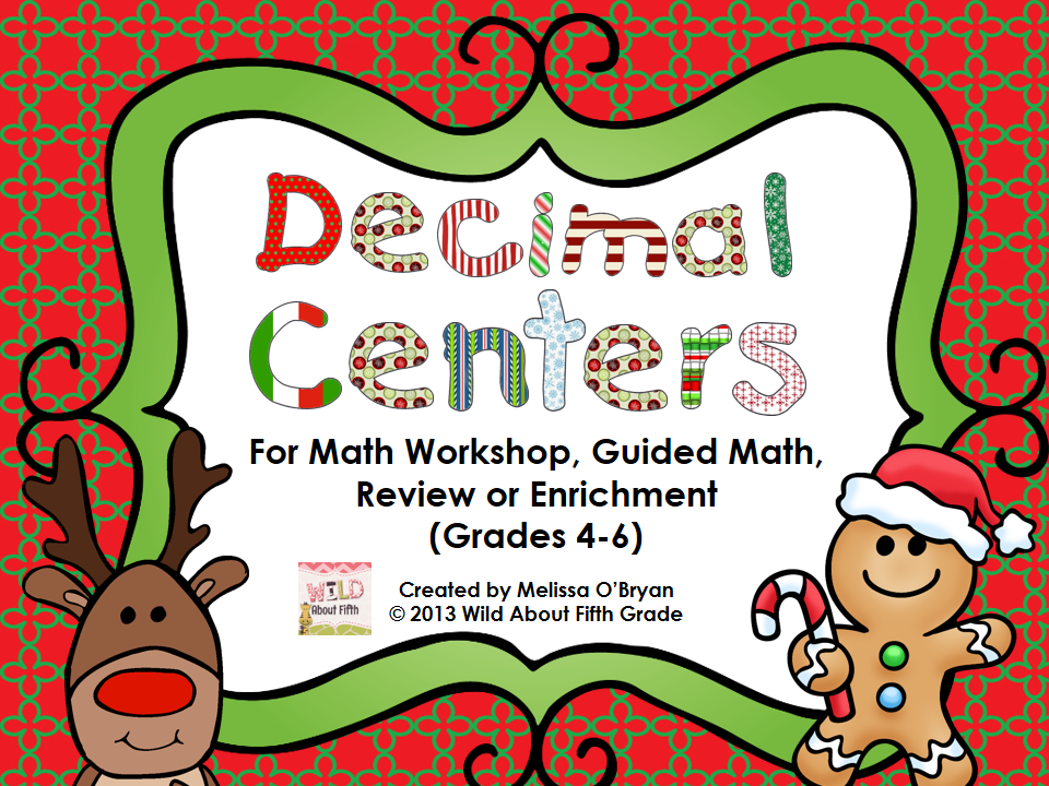 ... Christmas Decimal Centers pack and Christmas Decimal Build and Draw