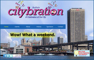 Screen capture of Citybration.com.