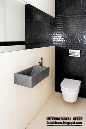 Black tiles for bathroom and toilet for Black and cream bathroom ideas