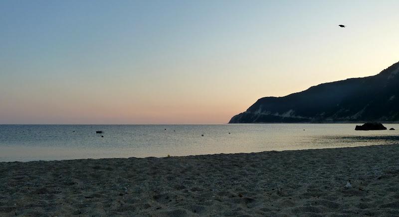 Früher Morgen am Strand von Agios Nikitas (Lefkada)