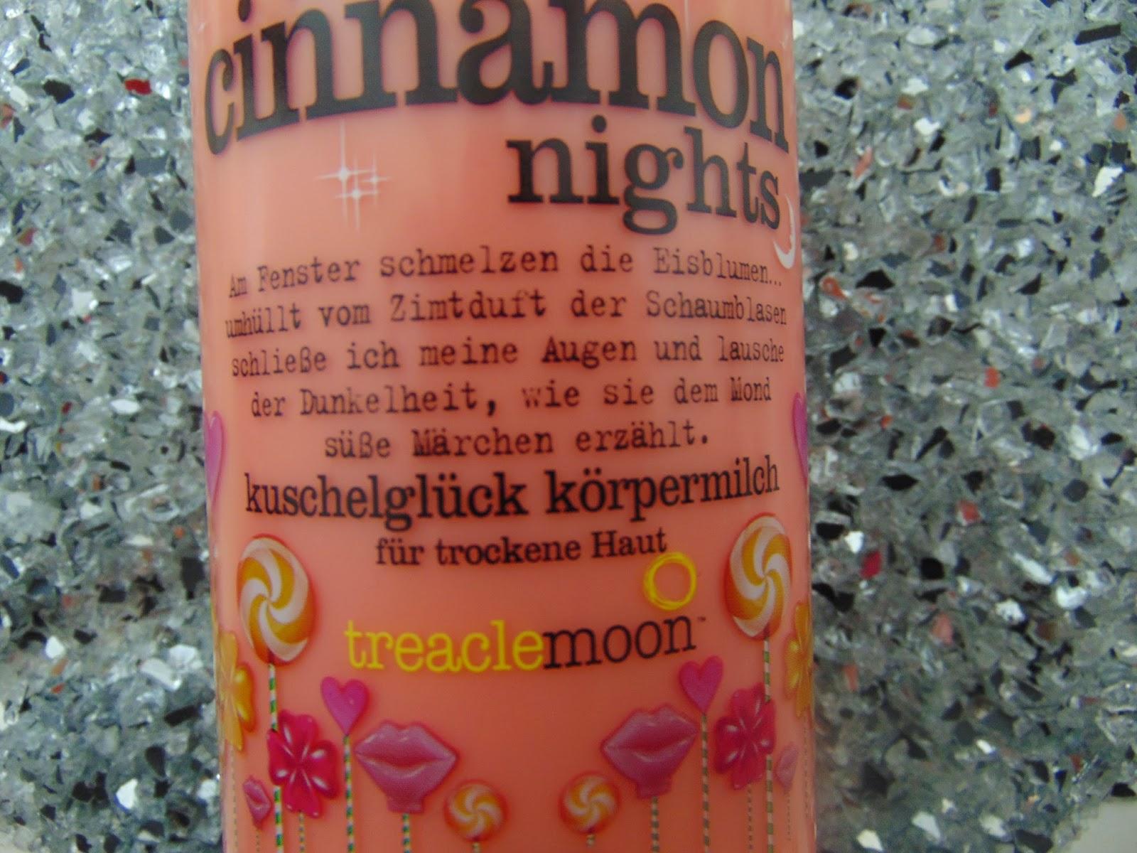 Treaclemoon - Körpermilch - Warm Cinnemon Nights - www.annitschkasblog.de