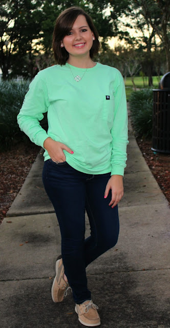 go preppy or go home mint long sleeve simply southern shirt