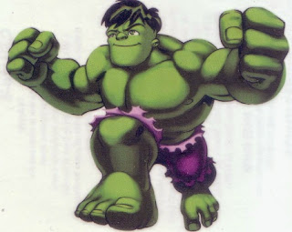Hulk from Marvel Super Hero Squad tattoos