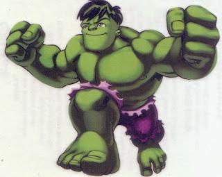 Hulk from Marvel Super Hero Squad tattoos