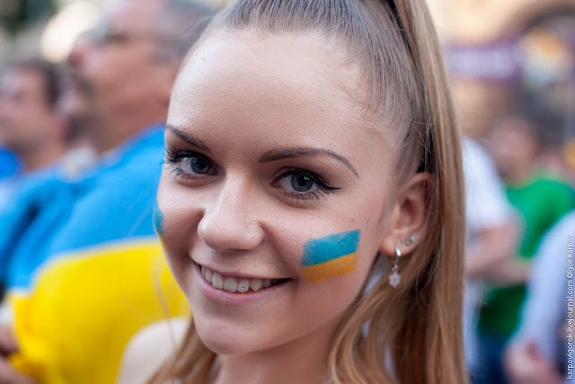 The Most Beautiful Ukrainian Football Fan Girls (updated ... Ukrainian Football Girls