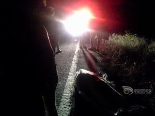 Acidente na saída de Barra de Santa Rosa deixa vítima fatal nesta sexta-feira (13)