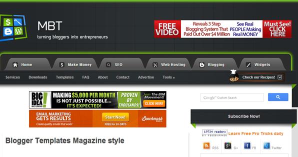15 best websites to download free premium blogger templates