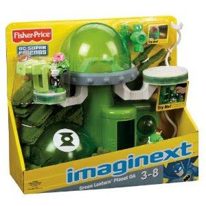 Pre-kindergarten toys - Fisher-Price Imaginext DC Super Friends Green Lantern Planet OA (W1383)