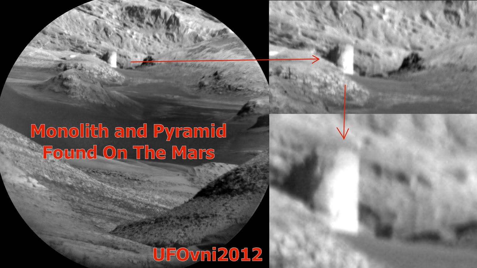Un Monolithe trouvé près de la Pyramide sur Mars