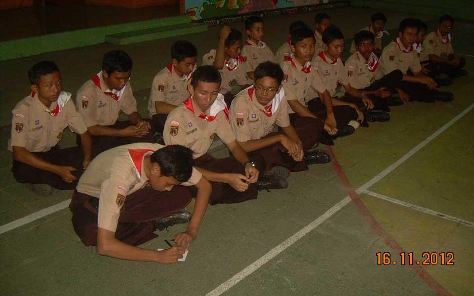 Pendaftaran Sangga Kautaman (Saman) putra dilaksanakan setelah kegiatan rutin hari Jum'at selesai