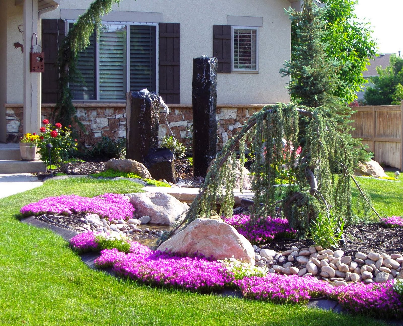 front yard landscaping idea 14 - 49+ Small Front House Landscape Design  Images